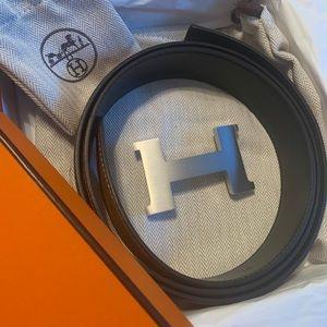 NEW Authentic Men's Hermès Reversible Belt